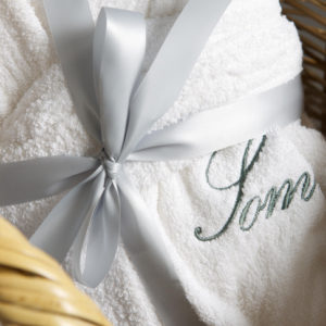 personalized bathrobe